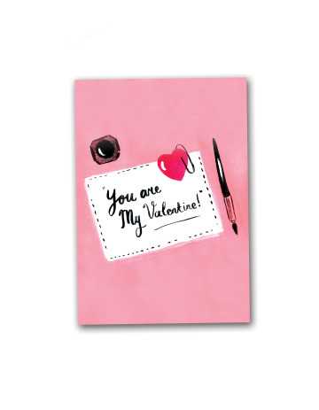 You Are My Valentine Card image