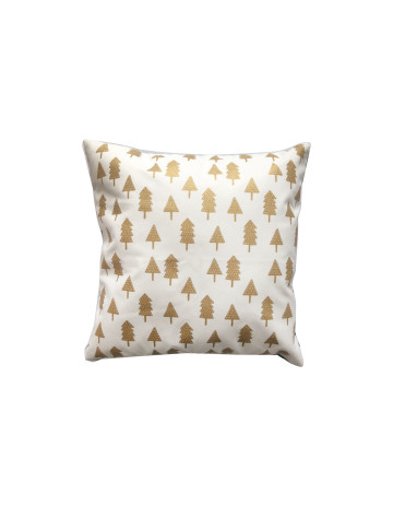 Gold Christmas Tree Cushion Cover (Cover Only) image