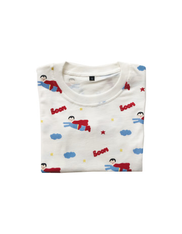 Little Superman Pattern T-Shirt image