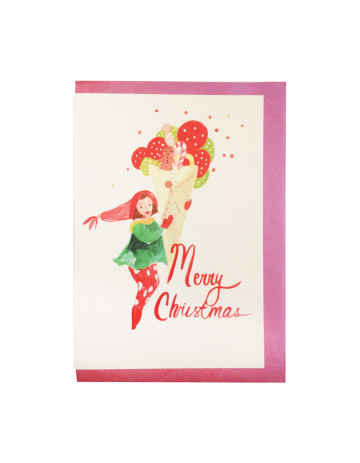 Lady In Christmas Card image