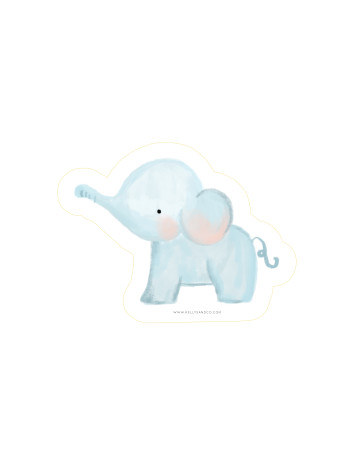 Baby Elephant Cut-Out Card image