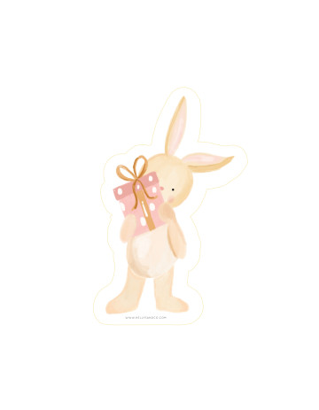 Birthday Bunny Cut-Out Card image