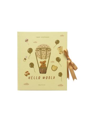 Hello World Teddy Bear Baby Keepsake image