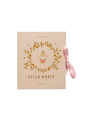Hello World Baby Girl Keepsake image