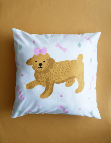 Toy Poodle Cushion Cover (Cover Only) image