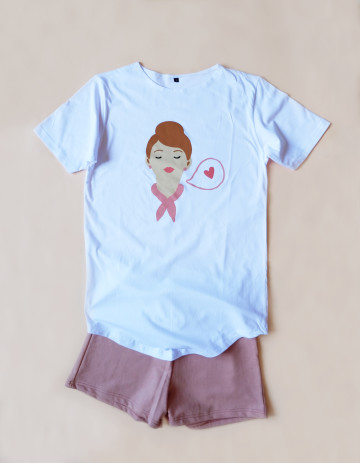 Hipster Couple Sleepwear Set Girl image