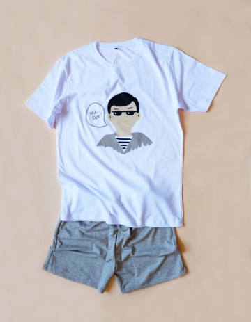 Hipster Couple Sleepwear Set Boy image