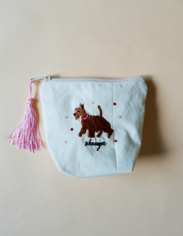 Schnauzer Embroidery Pouch image