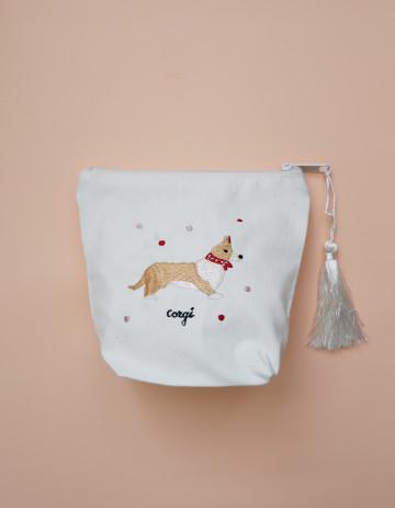 Corgi Embroidery Pouch image