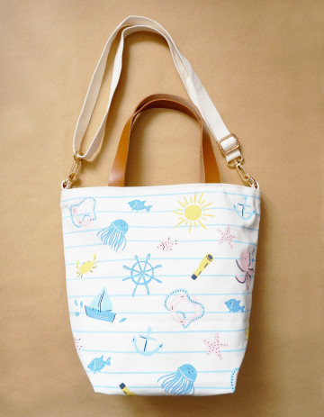 Nautical Diaper Bag image