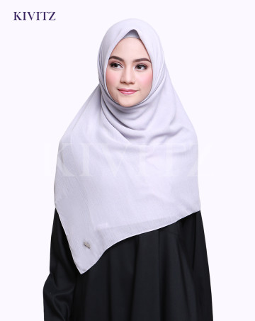 VOAL PLAIN SCARF (Light Grey) image