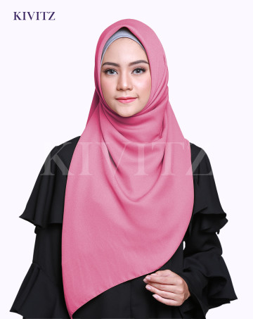 LAYYA SQUARE SCARF (Dusty pink) image