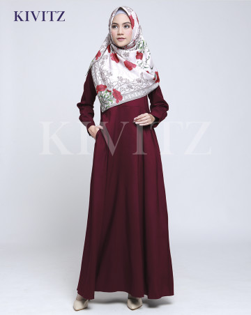 NEW BASIC DRESS (Maroon) image