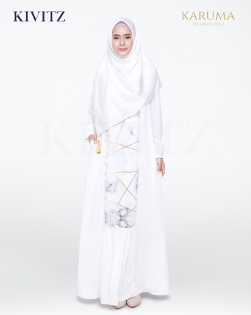 AZIZA DRESS (Broken White) image