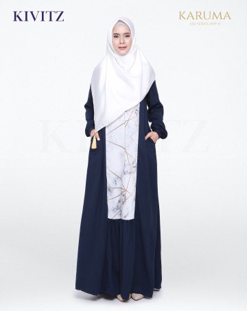AZIZA DRESS (Navy) image