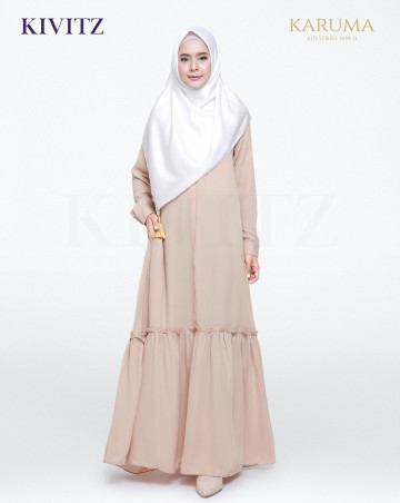 AZZAHRA DRESS (Brown) image