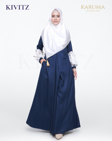 SAADA DRESS (Navy) image