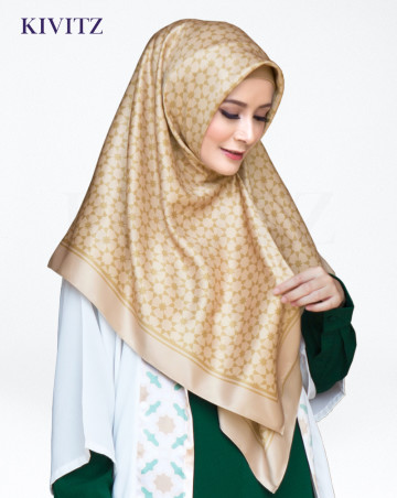 TAZA LIMITED SCARF - Crepe (Brown-Crème) image