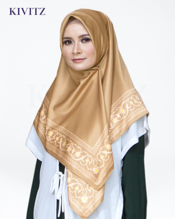 MOULAY LIMITED SCARF - Crepe (Gold-Creme) image