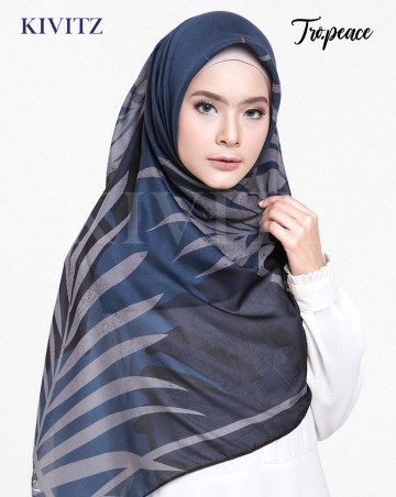 PANAMA LIMITED SCARF - CREPE (Midnight Blue) image