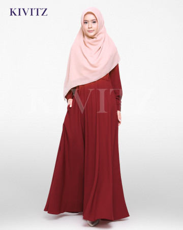 FIZA DRESS (Maroon) image