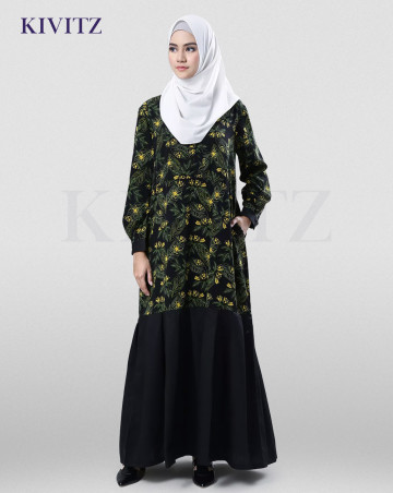 MAULIDA DRESS (BLACK PATTERN) image