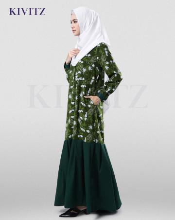 MAULIDA DRESS (GREEN PATTERN) image