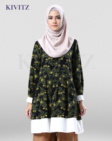 BLANG PADANG TOP (BLACK PATTERN) image