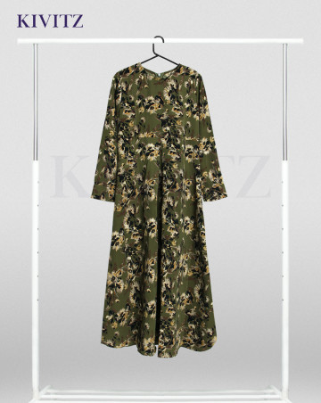 MELISSANI DRESS KIDS (FLORAL OLIVE GREEN) image