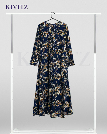MELISSANI DRESS KIDS (FLORAL DARK BLUE) image