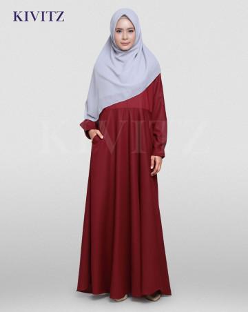NEW BASIC DRESS (Maroon) image