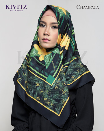 BUNGONG LIMITED SCARF - Voal (Black) image