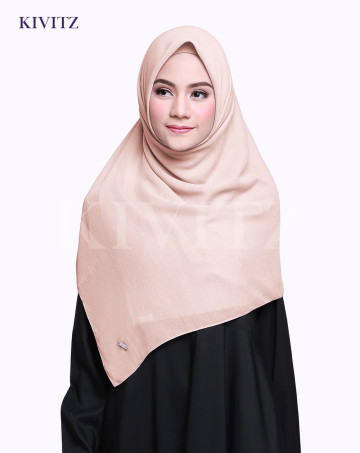 VOAL PLAIN SCARF (Nude) image