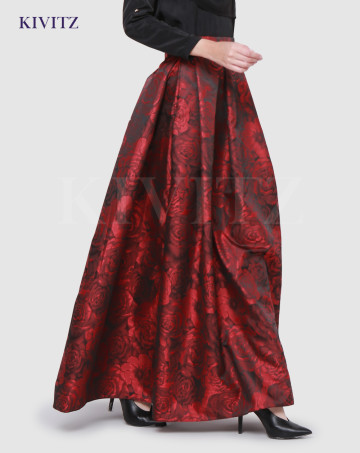ROSE SKIRT (Maroon) image