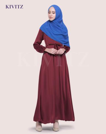 KAYRA DRESS (Maroon) image