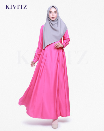 MALIKA DRESS (Fuschia) image