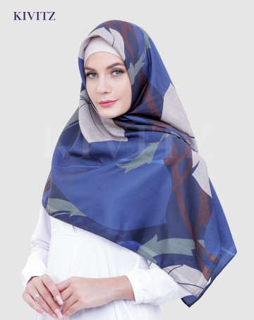 RAIMA LIMITED SCARF - VOAL (Navy) image