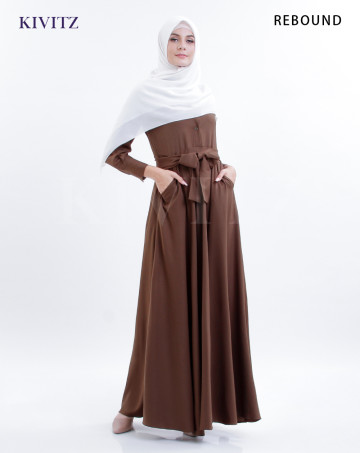 GAURI DRESS (Dark Brown) image