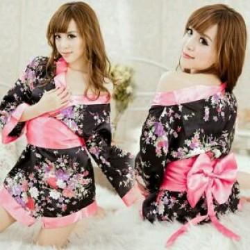 Sexy Flower Japanese Chinese Kimono image