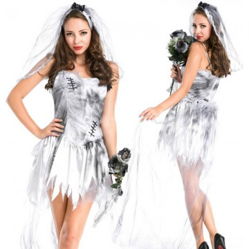 Costume White Ghost Bride Halloween image
