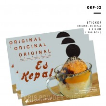 LABEL ES KEPAL – 300 lbr - stiker sticker perlengkapan es kepal
