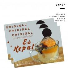 LABEL ES KEPAL - 5000 lbr - stiker sticker perlengkapan es kepal