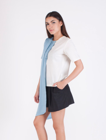 Blue Asymetric Anna Top