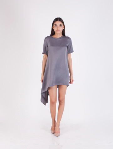 Grey Asymetric Cassie Dress