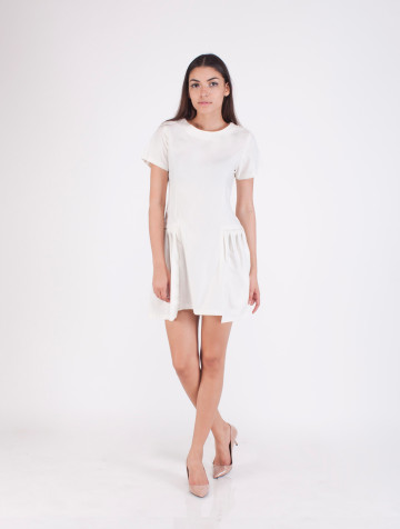 White Fit and Flare Calissa Dress