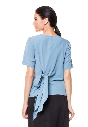 Blue Jane Top with back details