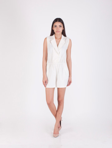 White Ellie Playsuit