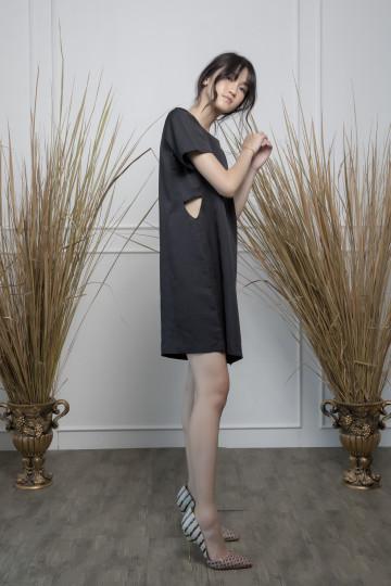 Black Peek Dress