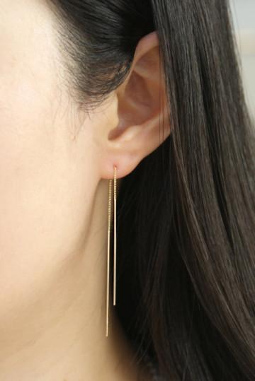 Needle earrings