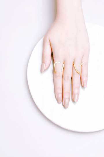 Curve and Line Ring Set
